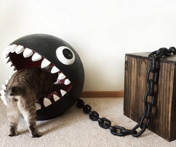 This Chain Chomp Cat Bed Is Awesome