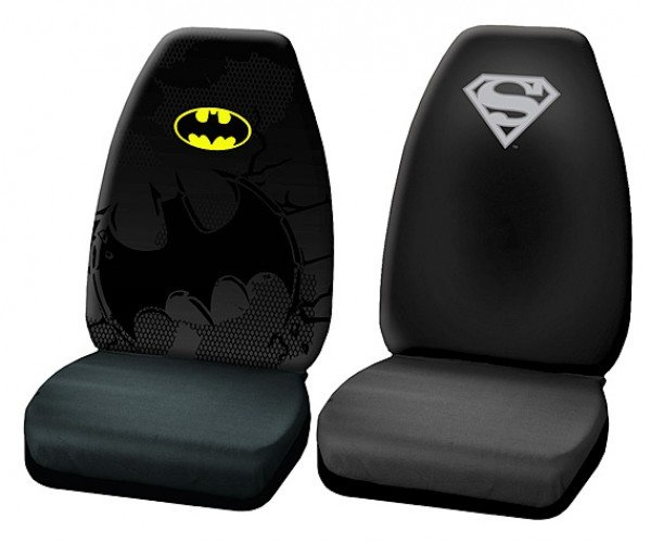 DC Superhero Car Seat Covers for Batmobiles and Supermobiles