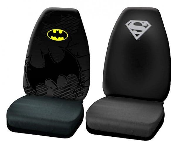 DC Superhero Car Seat Covers for Batmobiles and Supermobiles