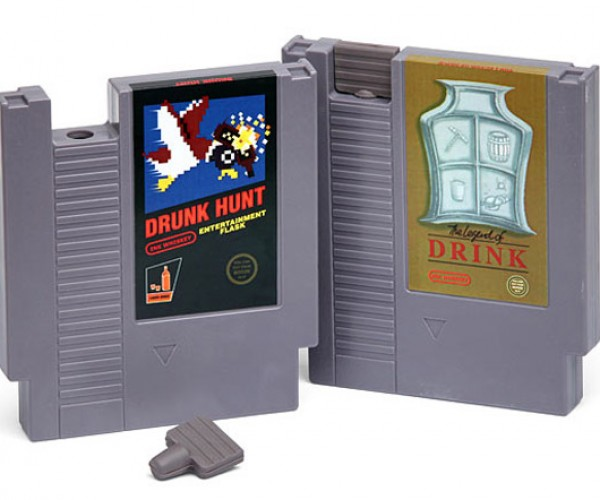 Gaming Cartridge Flasks: Drunk Hunt