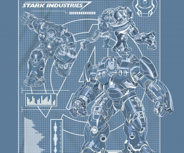 Hulkbuster Blueprint Shirt Should Be a Redprint