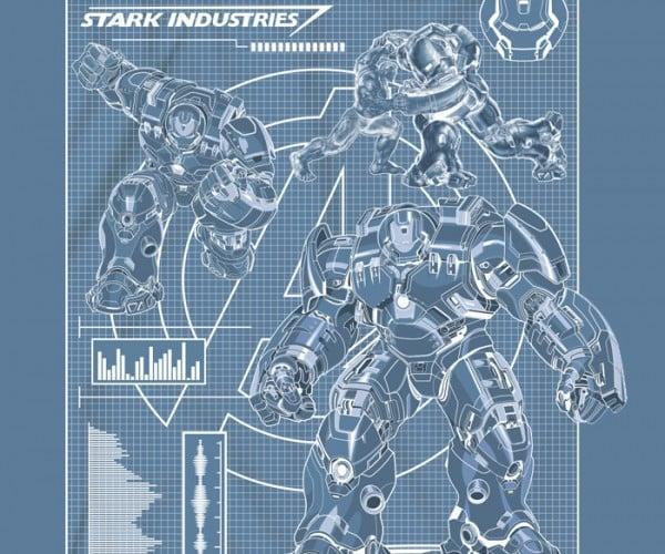 Hulkbuster Blueprint Shirt Should Be a Redprint