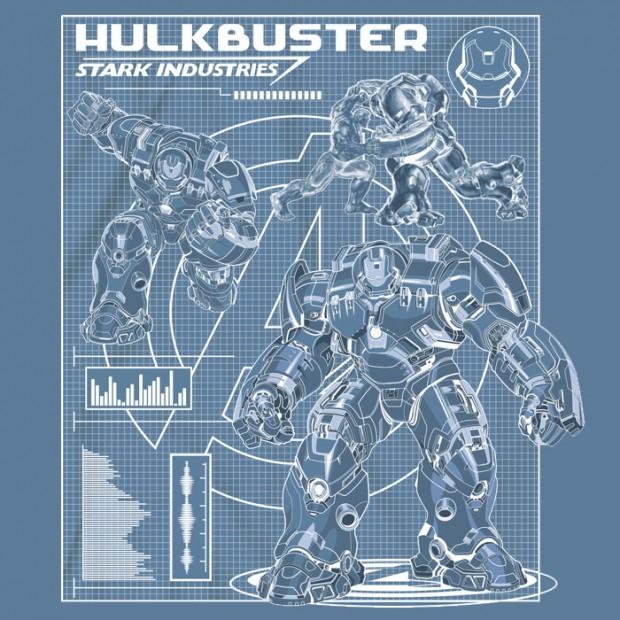 Iron Man Armor Blueprints Hulkbuster Blue...