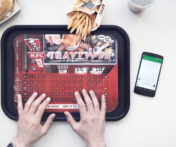 KFC's Paper Keyboard Protects Devices from Grease: Finger Clickin' Good
