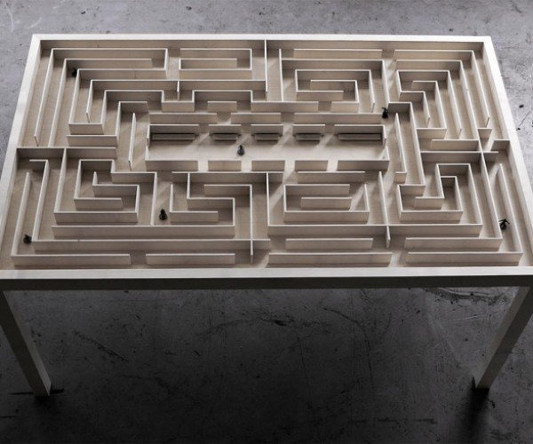 The Labyrinth Table Is A Coffee Table That Lets You Get Lost