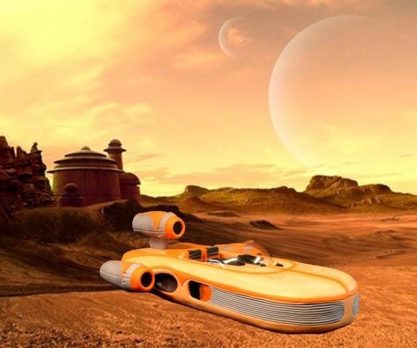 X-34 Landspeeder Cake: Baked in the Tatooine Sun