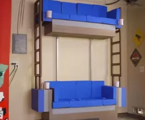 Family Gets Double Decker Couch from The LEGO Movie