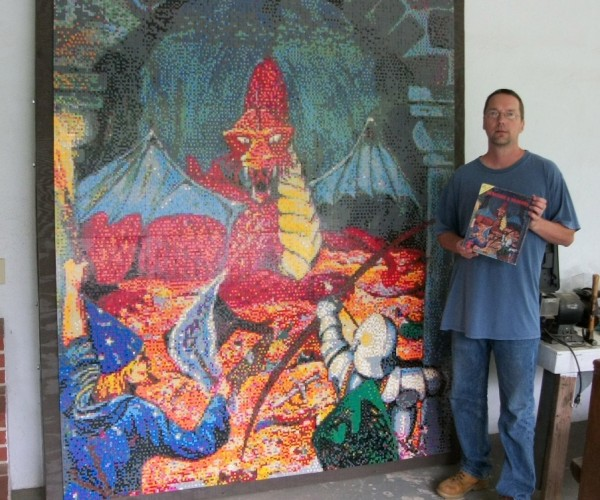 Dungeons & Dragons LEGO Mosaic is Epic