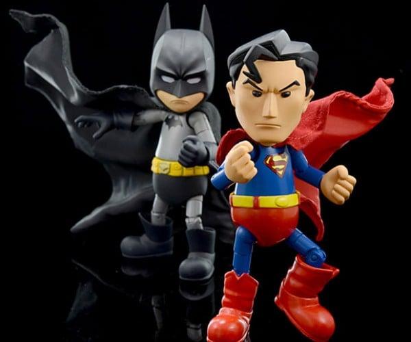 Herocross Metal Superman and Batman Characters Rock