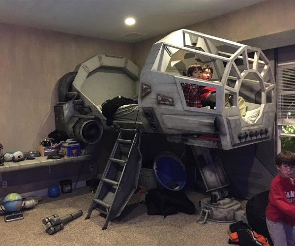 Dad Builds Millennium Falcon Bed for Son