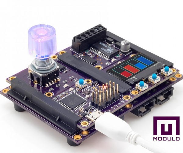 Modulo Modular Programmable Electronics: Slidestorms
