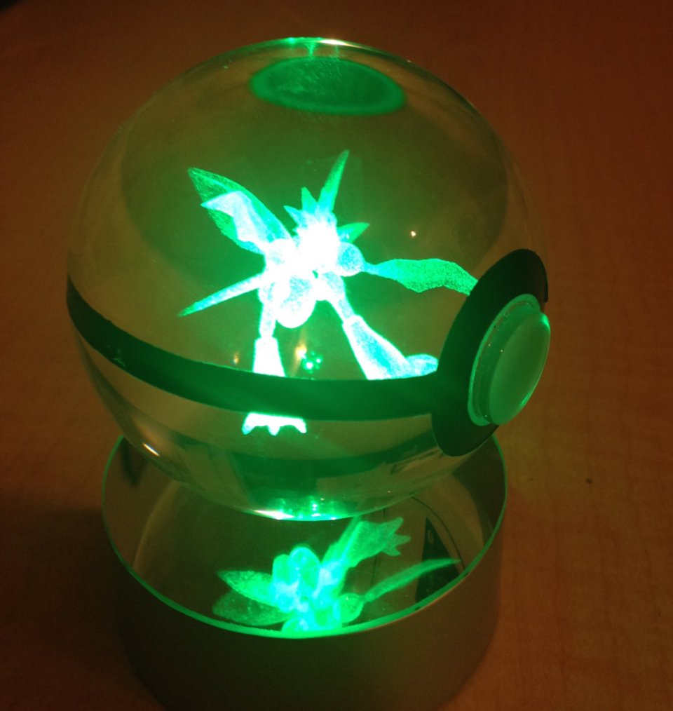 These Crystal Poke Balls Have Glowing Pok Mon Inside