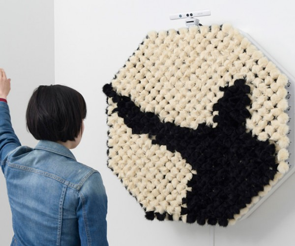 PomPom Mirror Mimics Reflections with Fur: You Are Your Spirit Animal