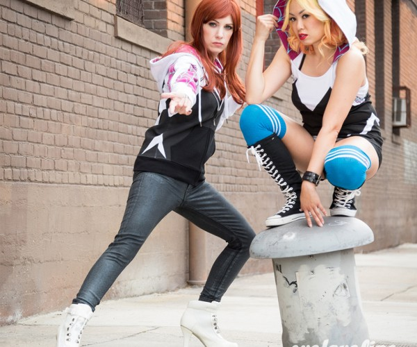 Spider-Gwen Hoodie & Hooded Tank Top: From the Earth-65 Collection