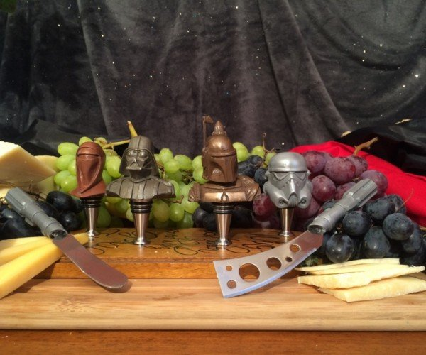 Star Wars Wine Stoppers Lightsaber Cheese Knives
