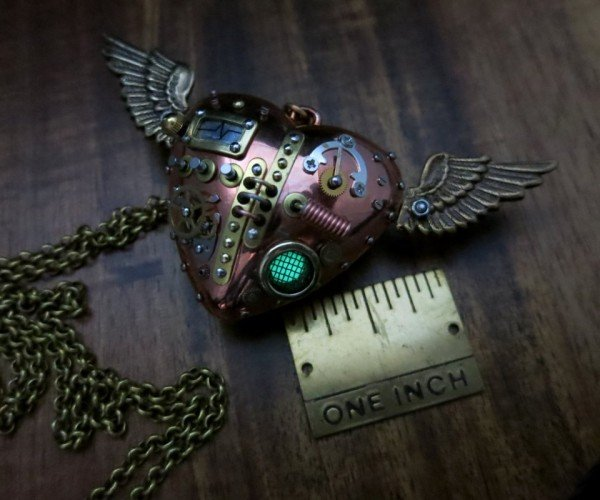 An Impressively Detailed Tiny Steampunk Heart: If I Only Had a Heart…