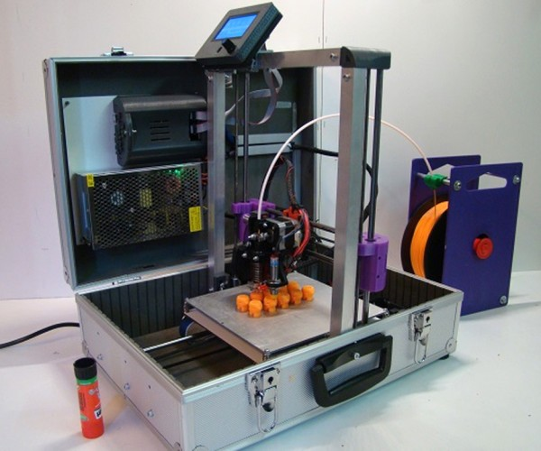 TeeBot 3D Printer in a Suitcase: Literally Print Out of the Box