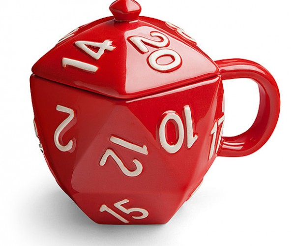 Critical Hit D20 Mug: +4 Caffeination