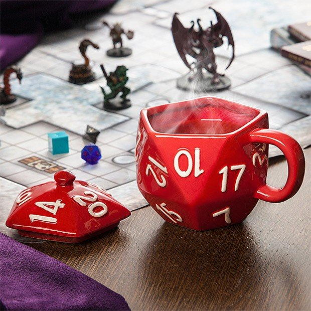 Critical Hit D20 Mug 4 Caffeination