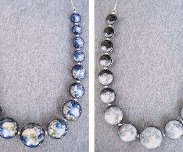 Reversible Earth and Moon Necklace Gives You the Best of Both Worlds