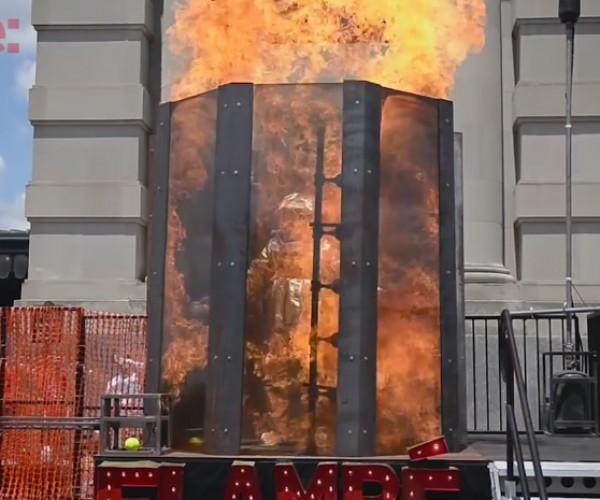 Flambé Flaming Dunk Booth: Sure-fire Fun