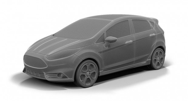 3D printed model of the Ford Fiesta ST from the Ford 3D Store.