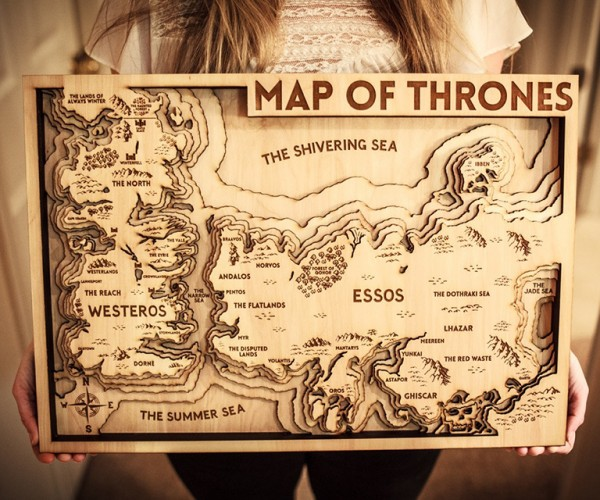 Game of Thrones 3D Wood Map: Keep Away from Wildfire