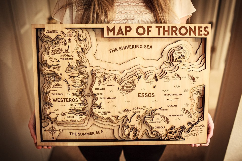 Game Of Thrones 3d Wood Map Keep Away From Wildfire