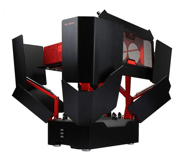 In Win H-Tower PC Case Opens Up at the Press of a Button: Bloombot