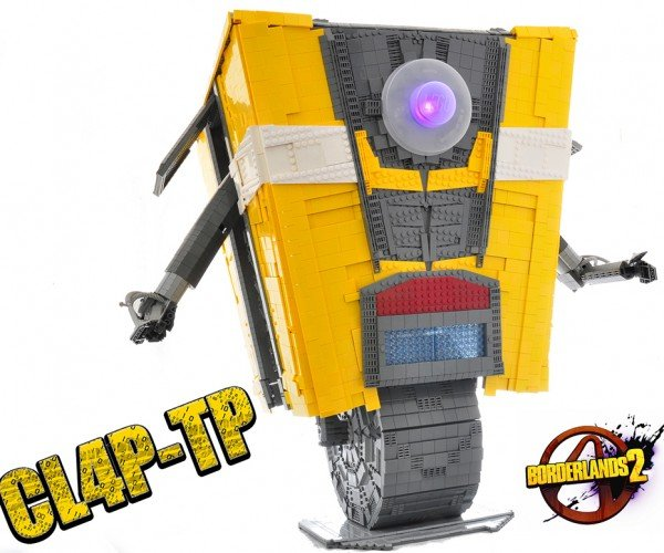 Life-size LEGO Claptrap: High Fives Guys! For Real!
