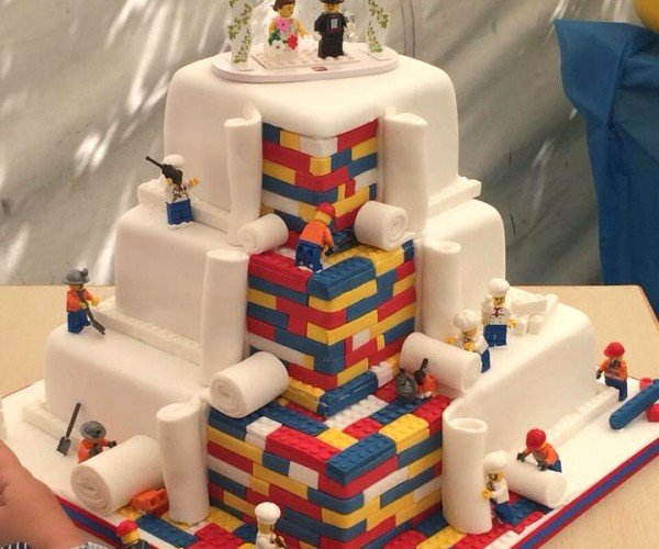 This LEGO Block Wedding Cake Is Still Under Construction