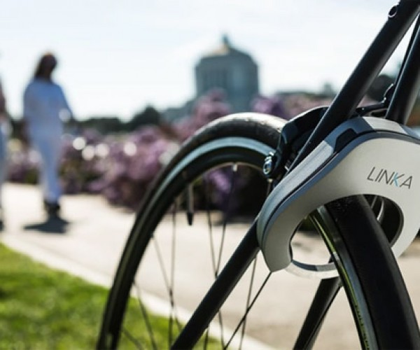 Linka Automatic Bike Lock: Pee-Wee Would Approve