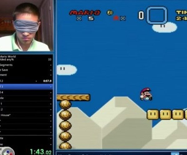 Guy Clears Super Mario World in 23 Minutes While Blindfolded, May Be Daredevil