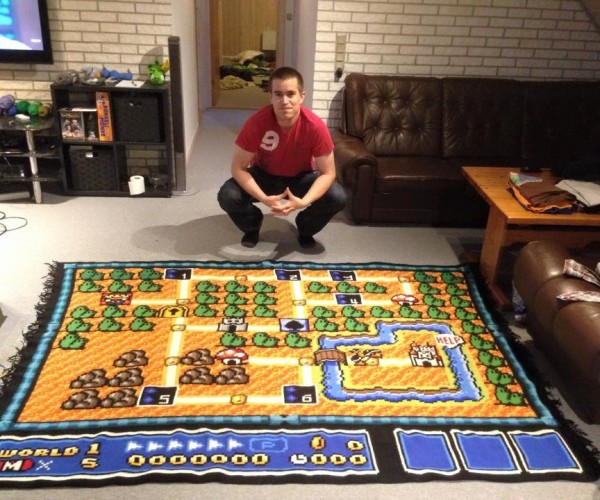 Guy Spends Six Years Crocheting Super Mario Bros. 3 Map
