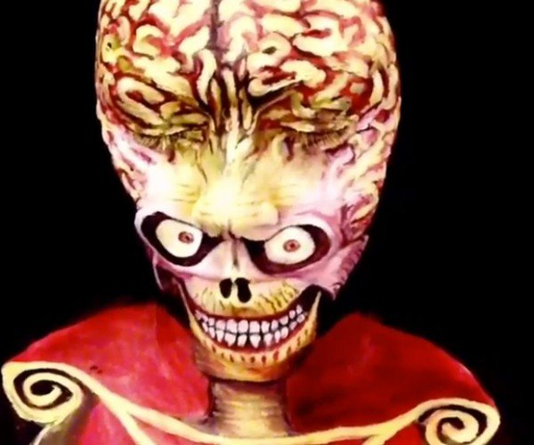 Mars Attacks Martian Face Paint: Industrial Light & Makeup