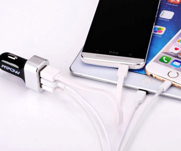 Deal: Mpow 3-Port Intelligent In-Car Charger