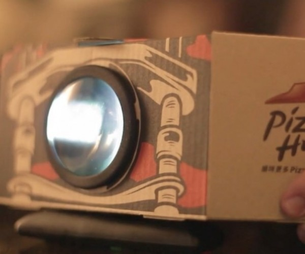 This Pizza Hut Box Turns Into a Projector