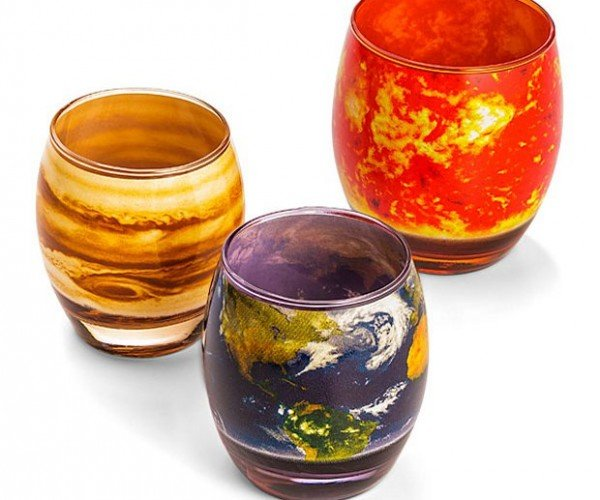 Planetary Glass Set: Libations in Space