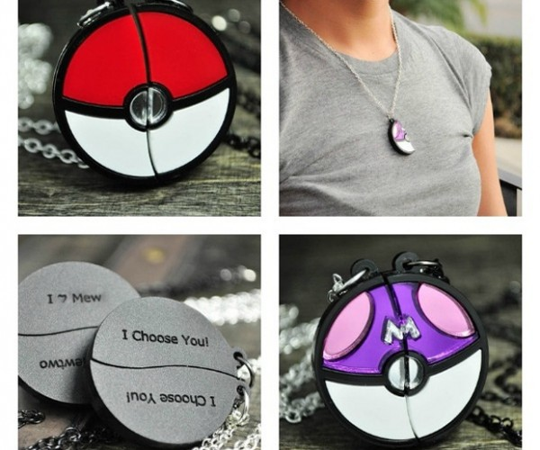Poke Ball Friendship Necklaces: I Choose You Pikachu!