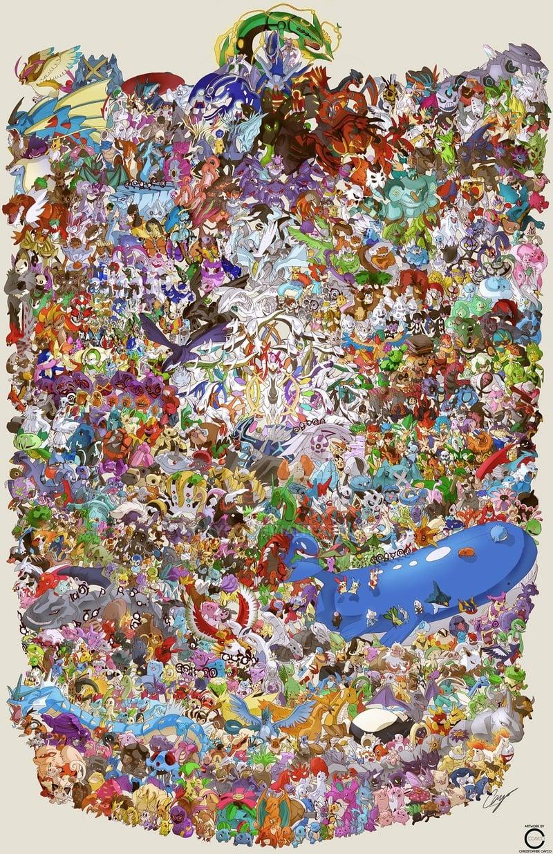 Guy Draws All 721 Pokemon in One Massive Image - Technabob