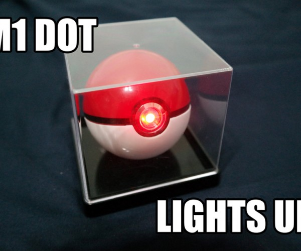 Poké Ball Light-Up Replica Catches Batteries for Itself