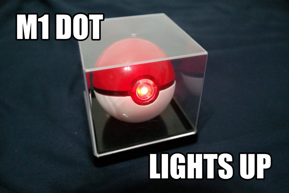 Poke Ball Light Up Replica Catches Batteries For Itself