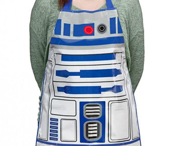 R2-D2 Apron Keeps Messy Kitchen Jedi Clean