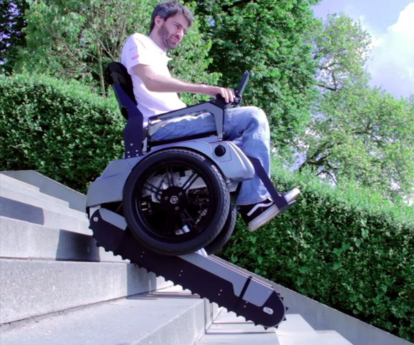 The Scalevo Wheelchair Can Climb Stairs