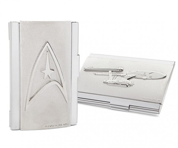 Star Trek Business Card Case Boldy Hands out Your Phone Number