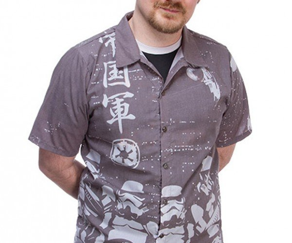 Japanese Stormtrooper Hawaiian Shirt Can't Hit the Hamper