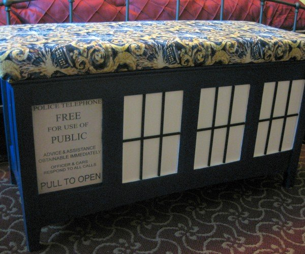 Upholstered TARDIS Bench