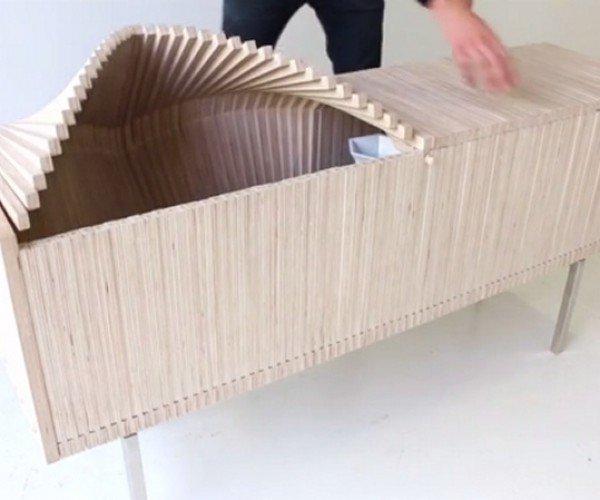 Wooden Wave Cabinet Makes Waves