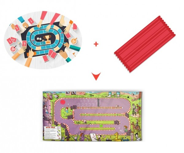 Gato is a Beach Towel and Game Board in One