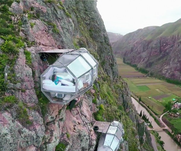 Can You Stomach a Night at Skylodge's Transparent Sleeping Pods?